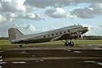 G-AMCA DC3 Air Atlantique CVT 12-11-77 (37422364242).jpg