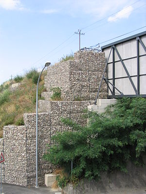 Gabion - Bridge abutment with gabions