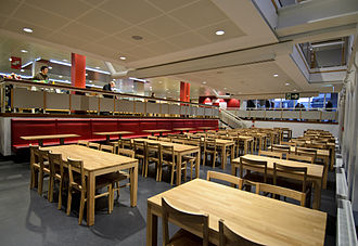 Technical University of Dortmund - Renovated place inside Food court