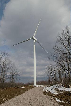 Siemens Gamesa Renewable Energy - Gamesa wind turbine installed at Bald Mountain in Bear Creek Township, PA