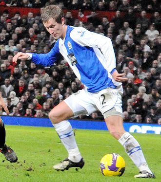 Morten Gamst Pedersen - Pedersen playing for Blackburn Rovers in 2009