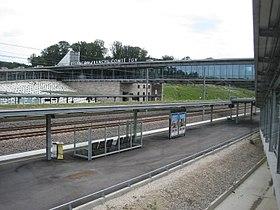 Vue générale de la gare de Besançon Franche-Comté TGV. acd65a5bc318