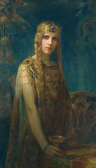 Iseult - Isolde: la princesse Celte by Gaston Bussière (1911)