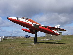 RAF Valley - Gate Guardian of RAF Valley Hawker Hunter WV396.