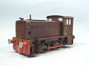 1 gauge - Gauge 1 model of a Ruston & Hornsby locomotive