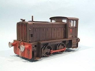 1 gauge - Gauge 1 model of a Ruston & Hornsby locomotive
