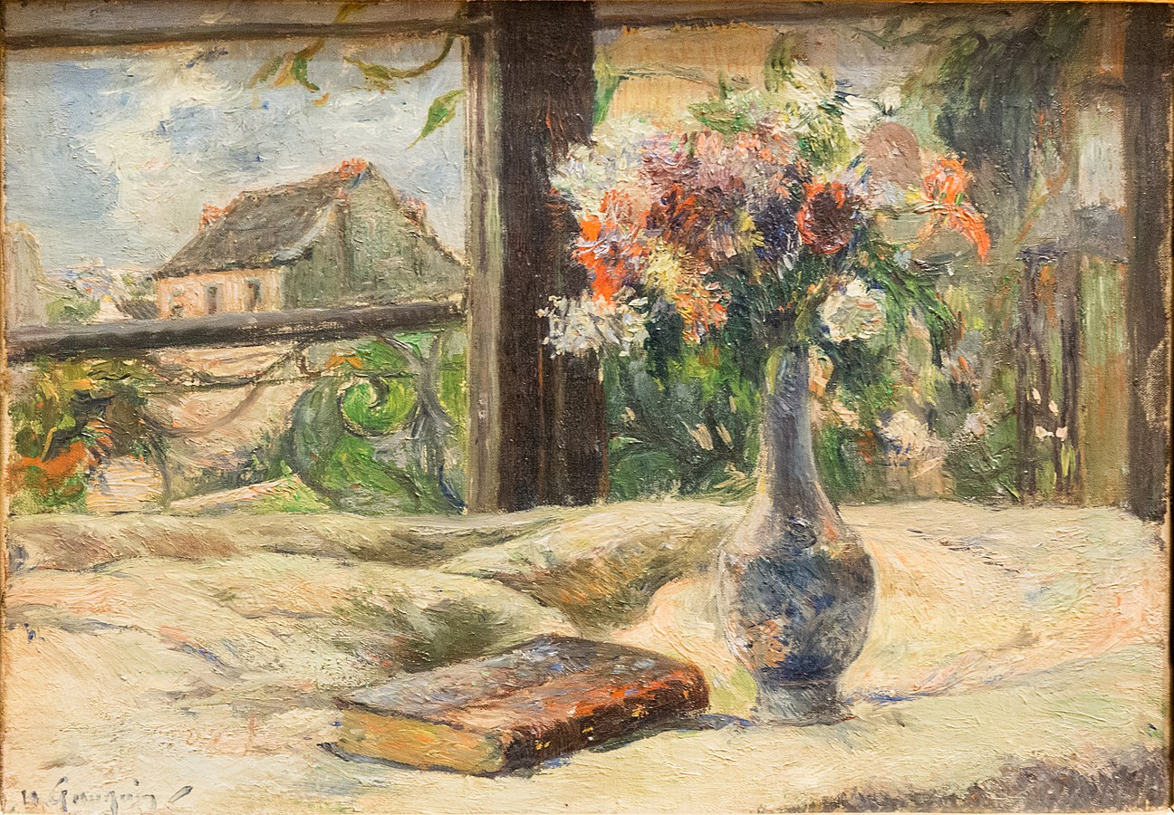 Still Life with a Vase of Flowers in the Window