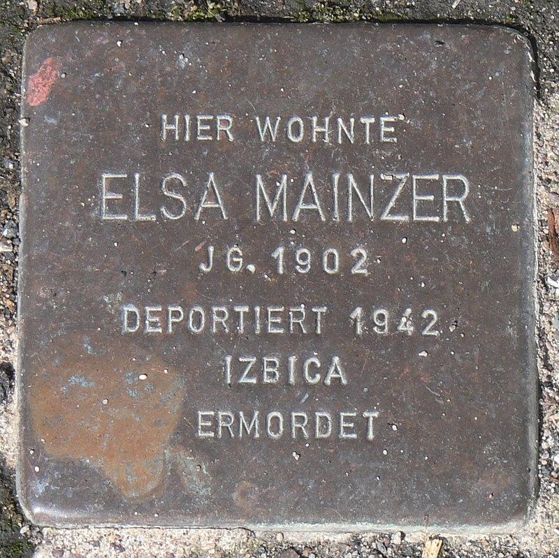 Gaukönigshofen Stolperstein Mainzer, Elsa.jpg