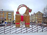 Julbock at Gävle, Sweden