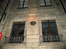 Geburtshaus von Jean-Jacques Rousseau in der Altstadt von Genf (Quelle: Wikimedia)