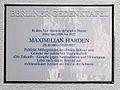 Gedenktafel Wernerstr 16 (Grunew) Maximilian Harden.JPG