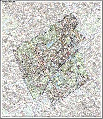 Rijswijk - Dutch Topographic map of Rijswijk, June 2015