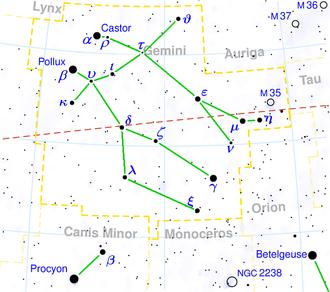 H. A. Rey - Image: Gemini constellation map visualization 1