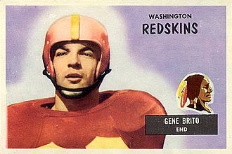 Gene Brito - Brito on a 1955 Bowman football card
