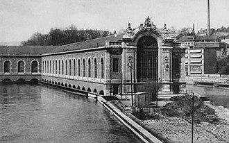 Bâtiment des Forces motrices - Power house ca. 1890