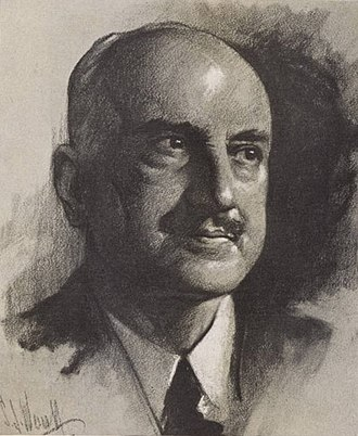 George Santayana - A drawing of George Santayana from  Time magazine (1936)