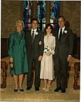 George W. Bush and Laura Bush at Their Wedding with George H. W. Bush and Barbara Bush.jpg