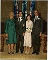 George W. Bush and Laura Bush at Their Wedding with George H. W. Bush and Barbara Bush.jpg