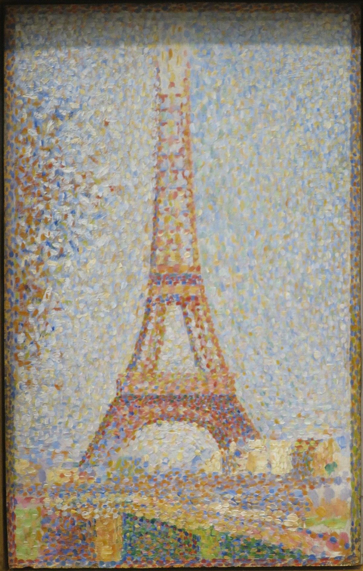 La torre Eiffel (Seurat) - Wikipedia, la enciclopedia libre