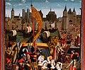 Georgsaltar St. Nicolai Kalkar. Szenerie in der Artl des Kölner Ursula-Zyklus im rechten Flügelbild.jpg
