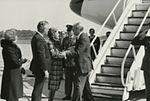 Gerald Ford deplaning at Patrick Henry Airport before third debate3.jpg