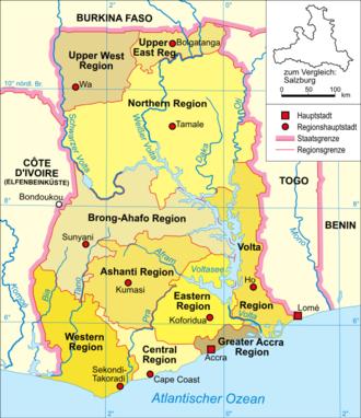 Ghana-karte-politisch