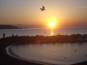 Giardini Naxos - Bay of Giardini Naxos at sunrise