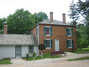 Bloomington, Minnesota - Built in 1856 on the bluffs of the Minnesota River, the Gideon H. Pond House is now listed in the National Register of Historic Places.