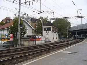 Zürich Giesshübel railway station - Image: Giesshuebel Wiedikon II