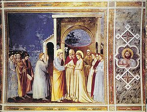 Life of the Virgin - The Marriage of the Virgin by Giotto (Scrovegni Chapel).