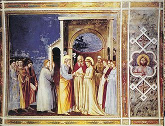 Marriage of the Virgin - The Marriage of the Virgin (1304-1306) by Giotto (Scrovegni Chapel)