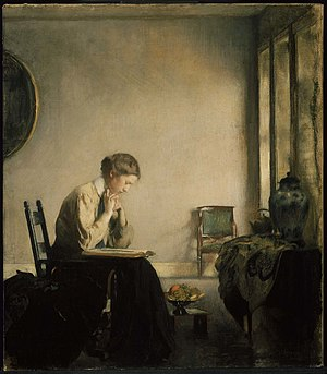 Edmund C. Tarbell - Girl Reading, 1909