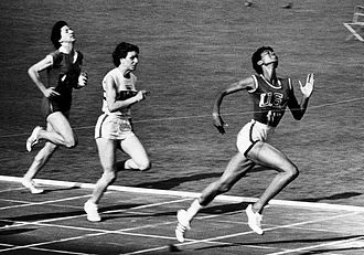 Wilma Rudolph - Rudolph wins the women's 100 meter dash at the 1960 Summer Olympics in Rome.