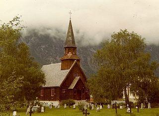 Gjøra Chapel Church in Møre og Romsdal, Norway