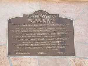 Thunderbird Field No. 1 - Memorial Plaque