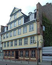 Goethe's birthplace in Frankfurt (Großer Hirschgraben) (Source: Wikimedia)