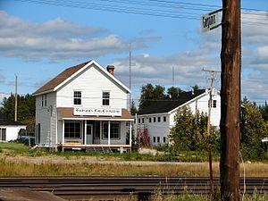 Unorganized North Sudbury District - Railstop and HBC store in Gogama