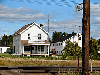 Unorganized North Sudbury District - Railstop and HBC store in Gogama