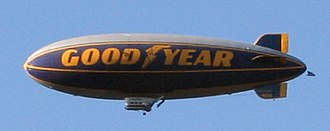 Blimp - The Spirit of Goodyear, one of the iconic Goodyear Blimps