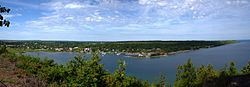 Panorama of Gore Bay and the North Channel.