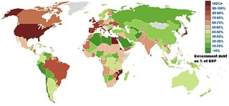 Government debt - Government debt as a percent of GDP by IMF