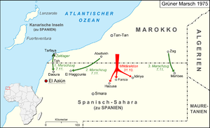 Green March - Operations of the Green March in the map