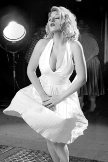 Grace Page dressed as Marilyn Monroe.png