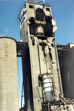Electrical equipment in hazardous areas - An explosion of dust at this grain elevator in Kansas killed five workers in 1998.