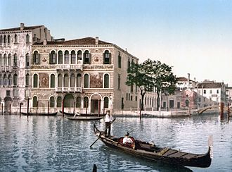 Piano nobile - Image: Grand Canal photochrom 2c