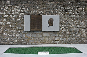 "Wolfe Tone - Grave of Wolfe Tone, Bodenstown (coordinates 53°15'45.3""N 6°39'57.3""W)"