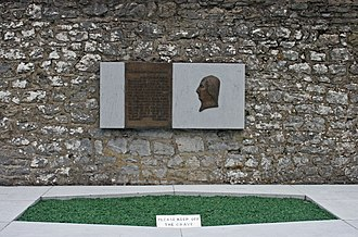 """Wolfe Tone - Grave of Wolfe Tone, Bodenstown (coordinates 53°15'45.3""""N 6°39'57.3""""W)"""