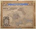 Graverad och handkolorerad karta över Frankrike från 1700-1715 - Skoklosters slott - 95149.tif