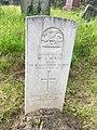 Gravestone of Private William Alden Morris at Groeswen Welsh Congregational Chapelyard, July 2020.jpg