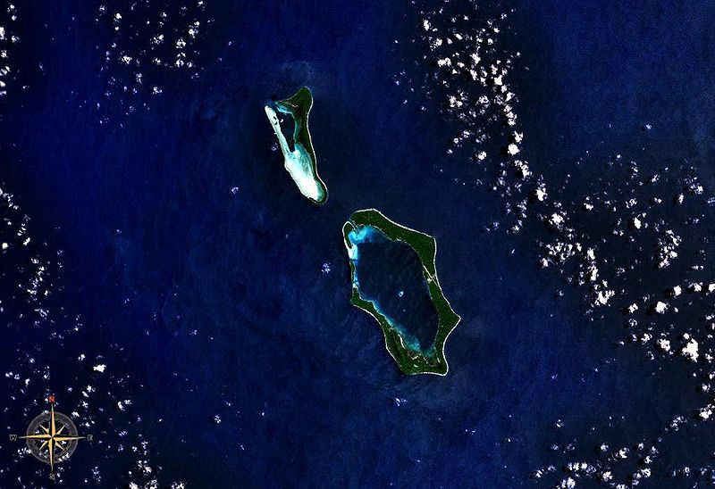 Green Islands as seen from space